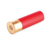 Shotgun shell. Red shotgun shell isolated on white Stock Images