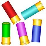 Shotgun shell set. Illustration of the shotgun shell set royalty free illustration