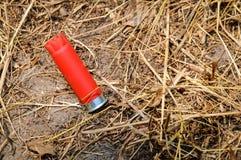 Shotgun Shell. A shotgun shell after shooting Stock Photography