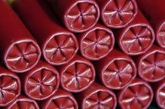 Shotgun Shells. A stack of shotgun shells awaiting hunting season Royalty Free Stock Photo