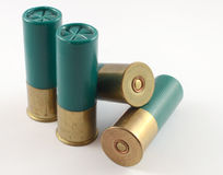 Shotgun Shells. Small collection of 12 gauge shotgun shells stock image