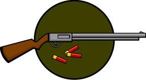 Shotgun and shells. Illustration of a shotgun and some shells Stock Images