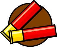 Shotgun shells cartridges. Illustration of a couple of shotgun shells cartridges Royalty Free Stock Images