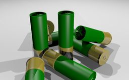 Shotgun shells Royalty Free Stock Photography