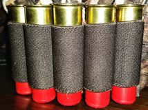 5 shotgun shells Royalty Free Stock Images