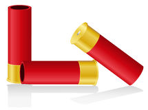 Shotgun shells vector illustration Royalty Free Stock Photos