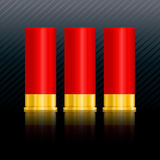 Shotgun shells vector illustration  on black background. Stock Photos