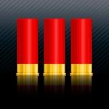 Shotgun shells vector illustration on black background. Painting a realistic shotgun ammo. illustrator EPS 10 vector illustration