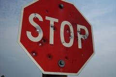 Shotgun Stop Sign Stock Photography
