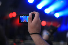 Shoting concert Stock Photography