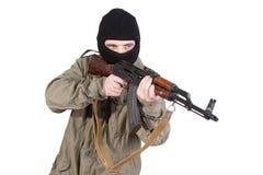 Shoting Terrorist lizenzfreie stockfotos