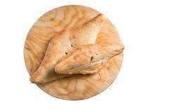 Shotis puri -在白色隔绝的传统英王乔治一世至三世时期面包 免版税库存图片