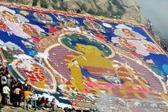 Shoton festival in Tibet Stock Photography