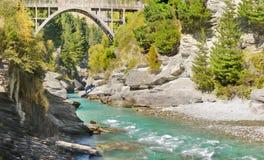 Shotover河桥梁,昆斯敦,新西兰 免版税库存照片