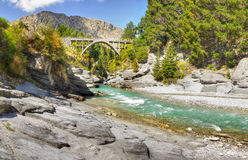 Shotover Canyon, Queenstown, New Zealand Stock Photo