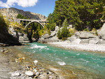Shotover Canyon, Queenstown, New Zealand. Shotover canyon and river. Queenstown region, New Zealand Stock Images