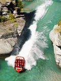 Shotover Jet Boat Ride, Queenstown, Neuseeland Lizenzfreies Stockbild