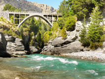 Shotover River Bridge, Queenstown, New Zealand Royalty Free Stock Image