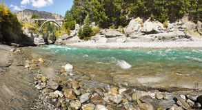 Shotover River, Queenstown, New Zealand. Shotover River and canyon  Jetboating, Queenstown, New Zealand Stock Images