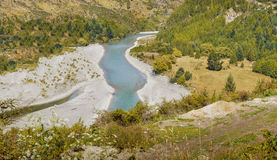 Shotover River, Queenstown, New Zealand Royalty Free Stock Images