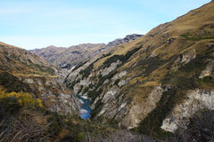 Shotover River at Skippers Canyon Road , Queenstown, New Zealand Stock Photography