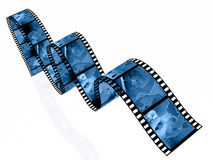 Shots. 3d film rolls and cassette with pictures (communication Stock Photo