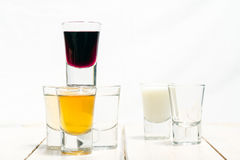Shots of alcohol royalty free stock images