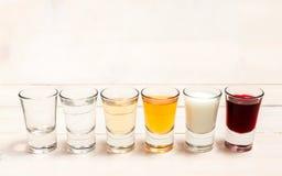 Shots of alcohol Stock Photo