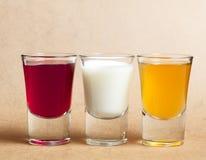 Shots of alcohol Royalty Free Stock Image