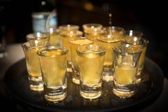 Shots av alkohol royaltyfri foto