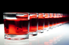 Shots on the bar Royalty Free Stock Photo