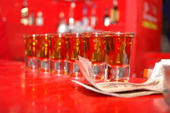 Shots in bar Royalty Free Stock Images