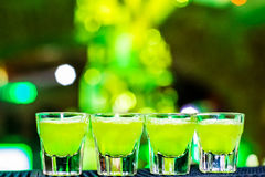 Shots on the bar Royalty Free Stock Photos