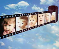 Shots with differend emotions of little child Royalty Free Stock Images