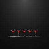 Shots with a drink. Menu design. Royalty Free Stock Photos