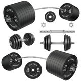 Shots of a metal barbells and weights Stock Photos