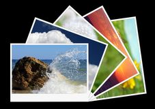 Shots of nature. Photo shots of nature isolated on black Royalty Free Stock Images