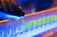 Free Shots On A Bar Stock Photography - 3398222