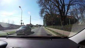 Shots road car. stock video