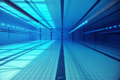 Shots underwater in a swimming pool Royalty Free Stock Image
