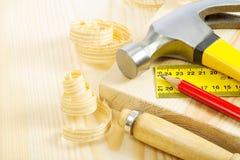 Инструменты плотничества Стоковое Фото