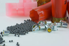 Shotshell reloading Stock Photo