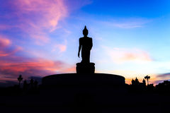 Shottas. Buddha sunset amongst the shadows in Thailand stock images