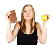 Should I Start Today my Diet? Stock Photography