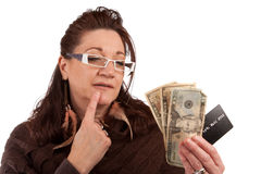 Should I Use Cash or Credit Card Royalty Free Stock Image
