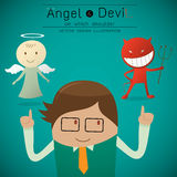 Shoulder angel  and devil Royalty Free Stock Photo