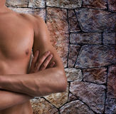 Shoulder and arm naked male body. (an athlete Royalty Free Stock Photos