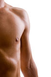 Shoulder and arm naked male body. (an athlete Royalty Free Stock Image