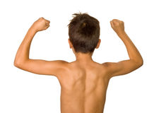 Shoulder and back stretch Stock Image