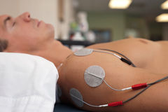 Shoulder Electrical Stimulation / TENS Royalty Free Stock Images